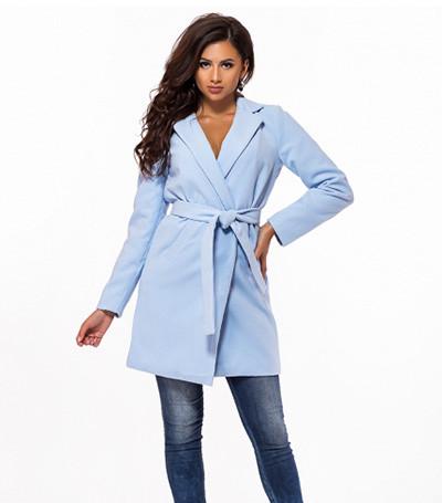 Кашемировое женское пальто с поясом 823727