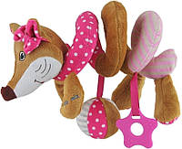 Игрушка спираль Лисичка розовая Baby Mix STK17511P