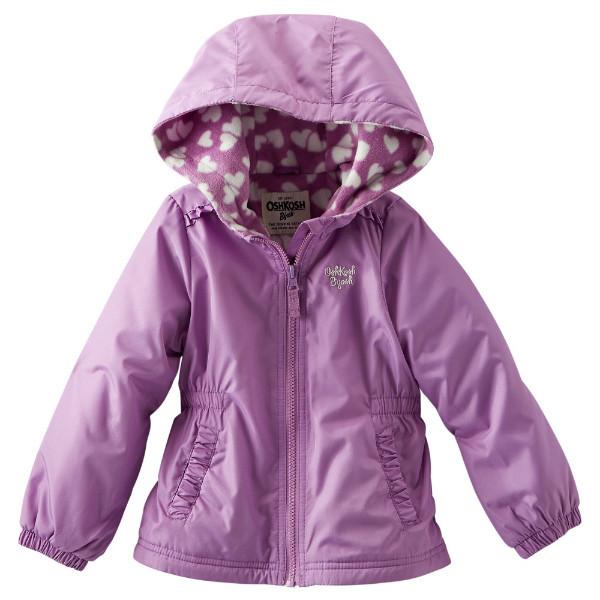 Ветровка на флисе для девочки OshKosh фиолет