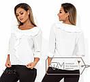 Женская прямая блуза батал с оборками FMX9210, фото 3