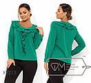 Женская прямая блуза батал с оборками FMX9210, фото 4