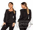 Женская прямая блуза батал с оборками FMX9210, фото 5