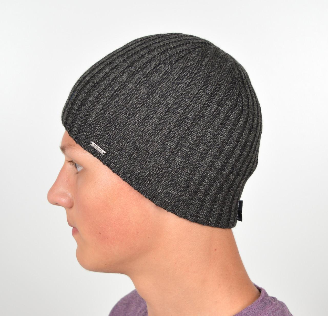 Мужская шапка Nord 15047 Серый меланж