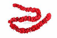 """Тканевая гирлянда """"Rose"""" для праздничного декора, красная,  длина 1.5м, Праздничный декор, Гирлянда для праздника"""