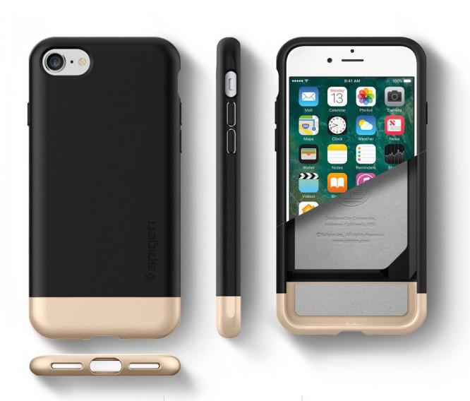 Чехол-накладка Spigen Style Armor для Apple iPhone 7 чёрный