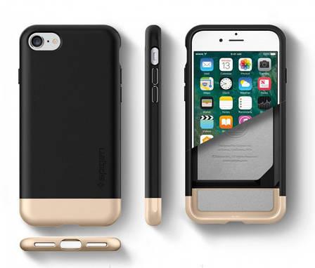 Чехол-накладка Spigen Style Armor для Apple iPhone 7 чёрный, фото 2