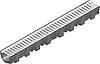 Жолоб HAURATON TOP Х (119 х 89 х 1000), PE-PP (чорний) з оцинк. решіткою щілинною (SW 9мм), кл. CAR TRAFFIC, 1 м.п.