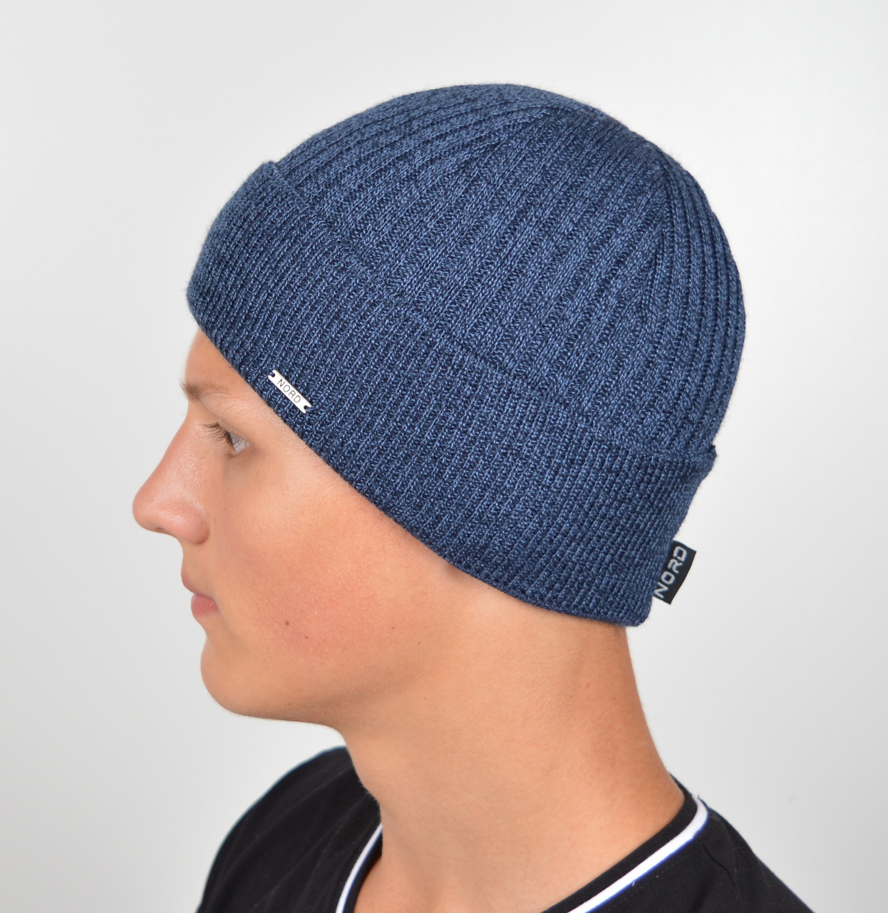 Мужская шапка Nord 15068 Джинс меланж