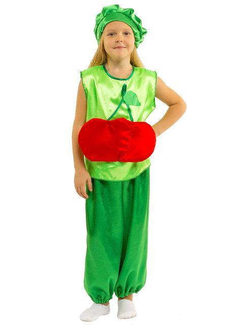 Карнавальный костюм ВИШНЯ, ВИШЕНКА детский на 3,4,5,6,7,8 лет, детский маскарадный костюм ВИШНЯ