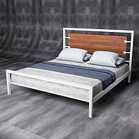Кровать из сращенного дуба и металла (Loft)