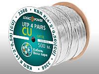 Сетевой кабель Logic Power UTP 5e 4x2x0.50mm медь внутренний 500м.