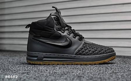Кроссовки мужские черные Nike Lunar Force Black Gray (реплика), фото 2
