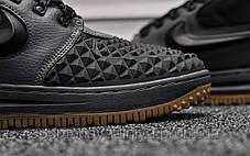 Кроссовки мужские черные Nike Lunar Force Black Gray (реплика), фото 3