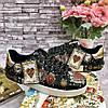 Креативные женские кеды DOLCE & GABBANA Portofino с принтом (реплика)