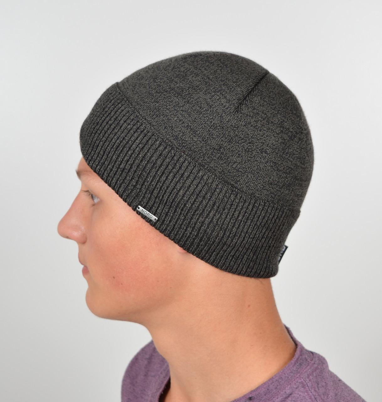 Мужская шапка Nord 171812 Серый меланж