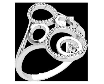 Кольцо  женское серебряное Орбита 21254