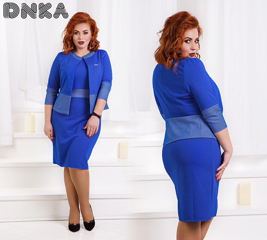 Комплект БАТАЛ  платье + пиджак  04д1233