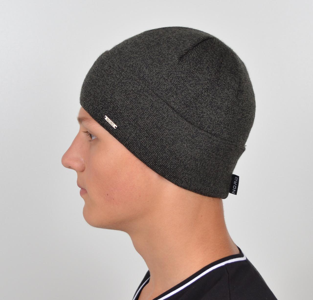 Мужская шапка Nord 172912 Серый меланж