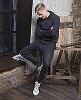 Чорний худі Grom clothing з капюшоном