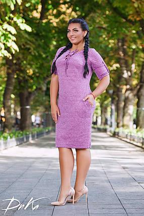 Платье завязки БАТАЛ 04д41134, фото 2