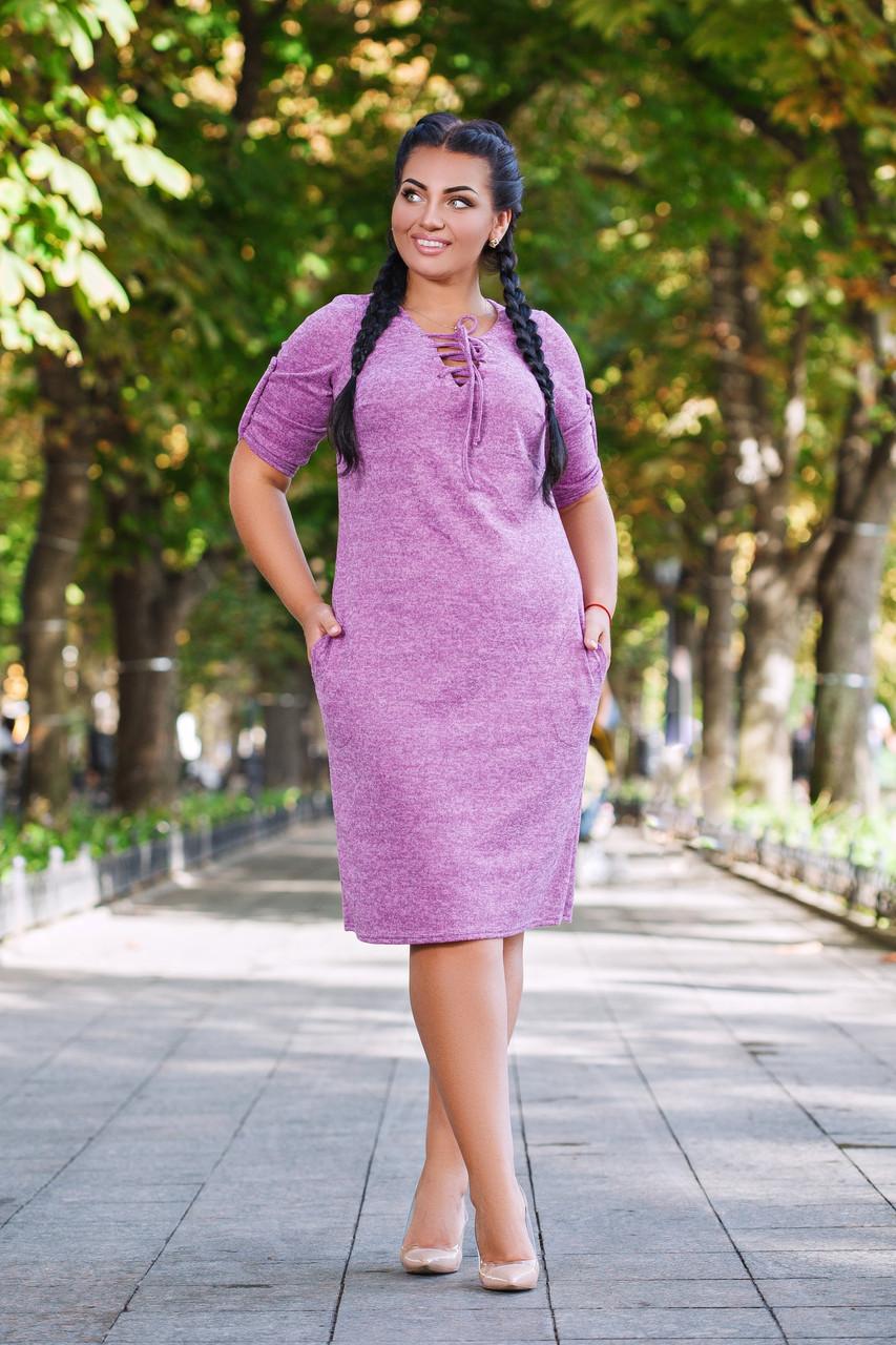Платье завязки БАТАЛ 04д41134
