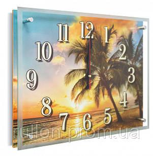 Часы настенные с картиной под стеклом YS-Art 30х40см (PB017)