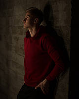 Бордовий Худі з капюшоном Grom clothing