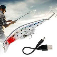 Рыбка-приманка для рыбалки twitching lure 2225 с USB-шнурами для зарядки