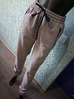 """Теплые женские спортивные брюки """"Трехнитка на флисе, карман на змейке, манжеты"""" РАЗНЫЕ ЦВЕТА"""