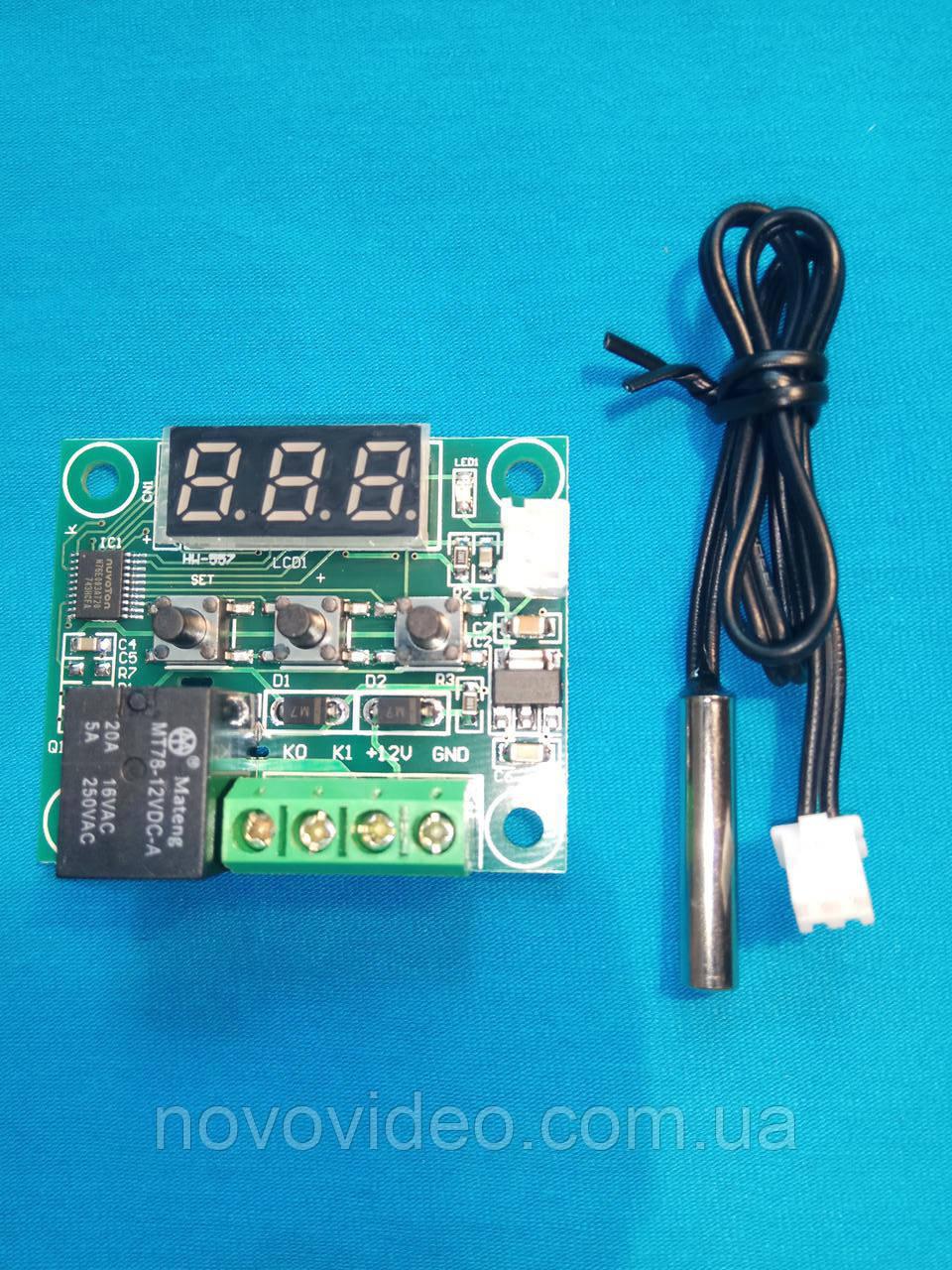 Цифровой терморегулятор W1209 с питанием 12 В на 1000 Вт встраиваемый