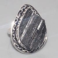 Кольцо с Черным Турмалином (Шерлом)