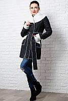 Женское пальто на овчине Бенжамин до 60 размера
