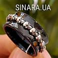 Серебряное кольцо с керамикой и черепами - Кольцо с черепами серебро, фото 4