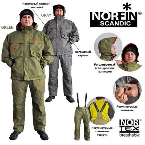 Костюм всесезонный NORFIN SCANDIC (61410x) серый
