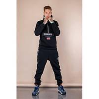 Мужской теплый спортивный костюм Napapijri черный топ реплика