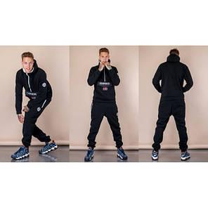 6b0af43c6191 Мужской теплый спортивный костюм Napapijri черный топ реплика, фото 2