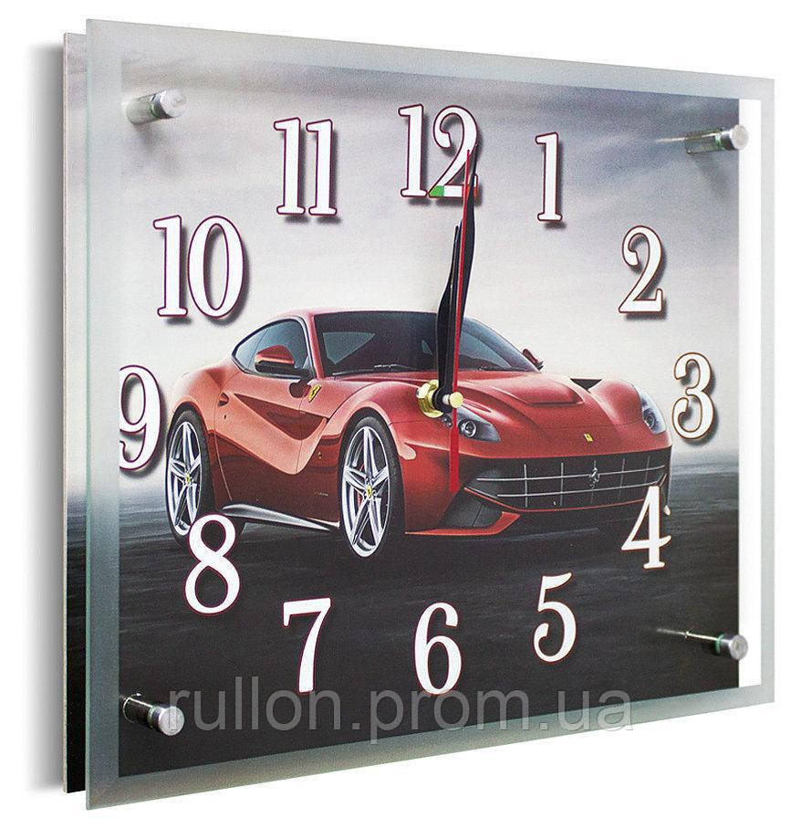 Часы настенные с картиной под стеклом YS-Art 25х30см (PR011)