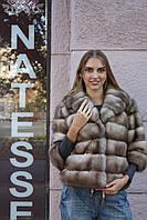 """Полушубок из светлой куницы """"Анна"""" marten fur coat jacket, фото 1"""