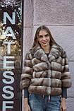 """Полушубок из светлой куницы """"Анна"""" marten fur coat jacket, фото 2"""