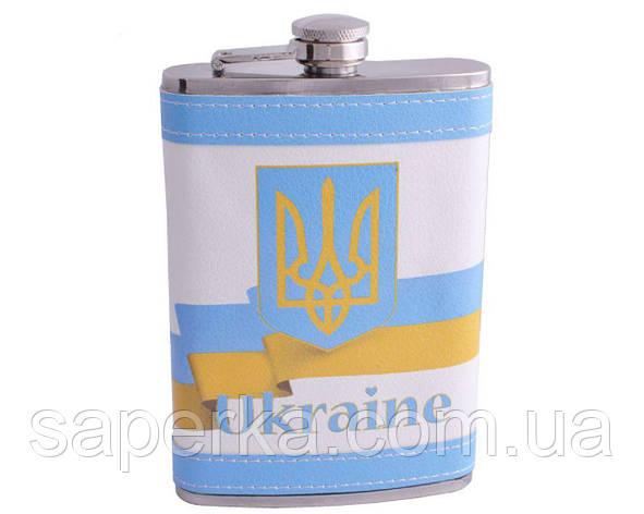 Фляга из нержавеющей стали обтянута кожей Украина , фото 2
