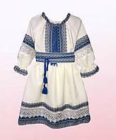 Красивое платье-вышиванка для девочек (1409/13)