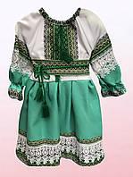 Платье-вышиванка для девочек с кружевом (1409/14)