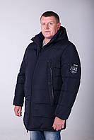 Зимняя мужская куртка удлиненная