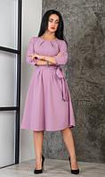 Красивое однотонное женское платье