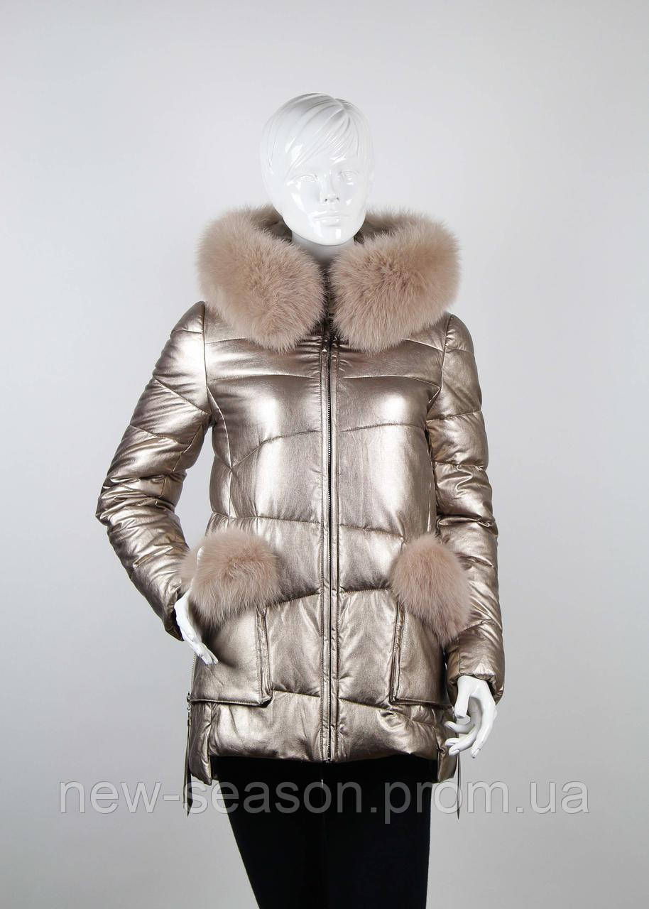Куртка женская с мехом ZLLY (Zilanliya) 17228 золото