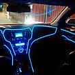 Светодиодная лента провод 3м LED неоновый свет с контроллером. ICE BLUE, фото 2