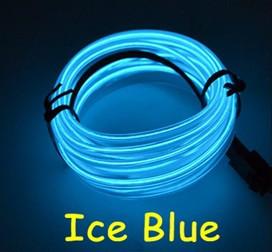 Светодиодная лента провод 3м LED неоновый свет с контроллером. ICE BLUE