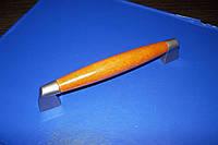 Ручка вставка дерево 128мм Сатин, фото 1