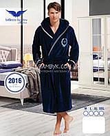 Мужской халат Bellezza By Ebru бамбуковый синего цвета №2016, фото 1