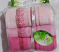 БАБУКОВЫЕ ПОЛОТЕНЦА 90*150 (3шт) ТМ Soft Life розовый